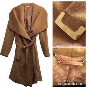 Diane Von Furstenberg wool camel coat